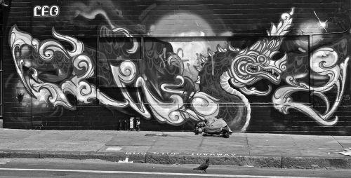 homeless solitude black and white