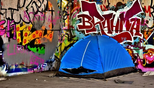 homeless  place to sleep  tent