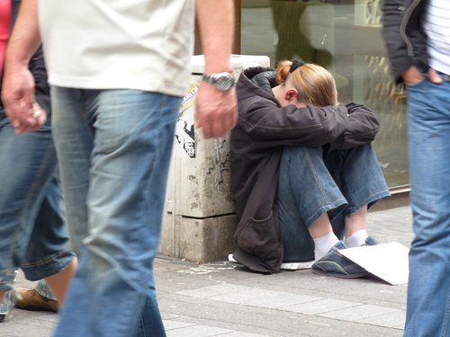 homeless  beggar woman  poverty