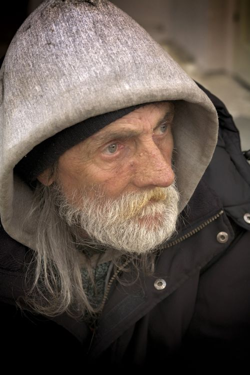 homeless male color