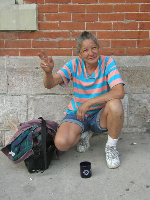 homeless woman poverty