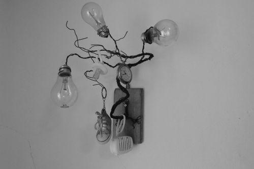 homemade lightbulb lamp