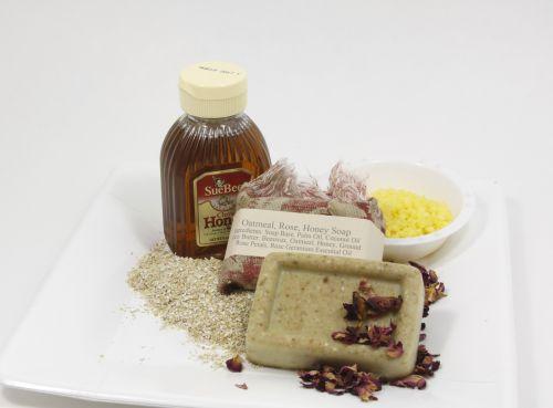Homemade Oatmeal Rose Soap