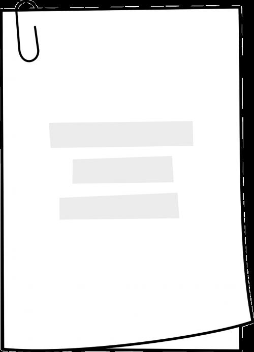 homework paper paperclip