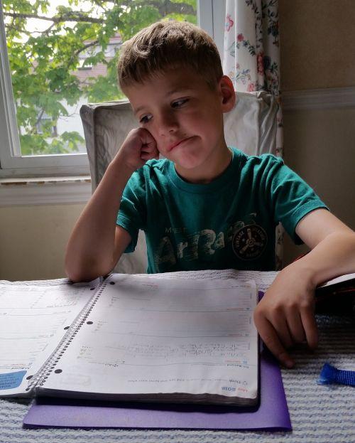 homework boy child