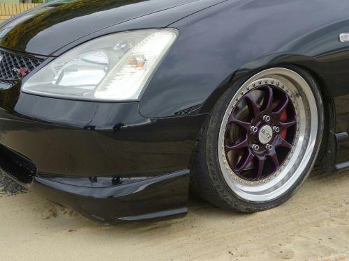 Honda Custom Car Wheel And Headlamp