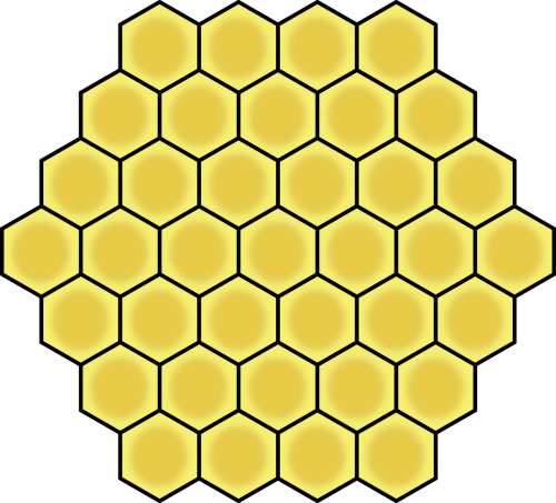 honeycomb hexagon geometric
