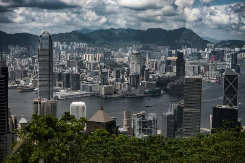 hong kong peak skyline