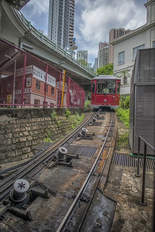 hong kong peak tram mountain railway