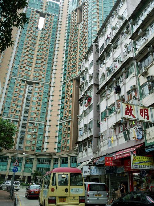 hong kong building block of flats
