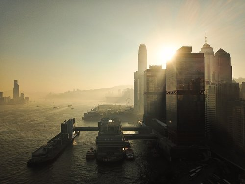 hong kong  city  building