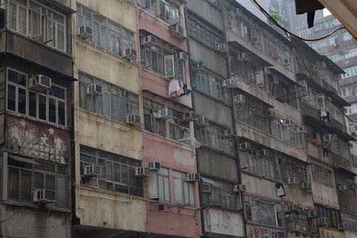 hong kong  slum  china