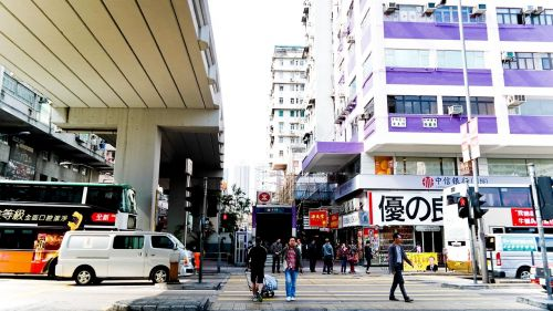 hong kong marketplace busy