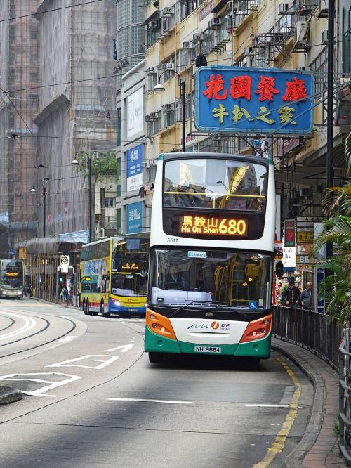 hongkong bus city