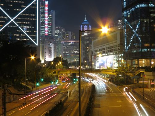 hongkong china night