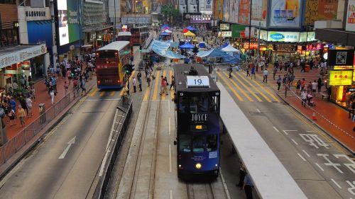 hongkong tram asia