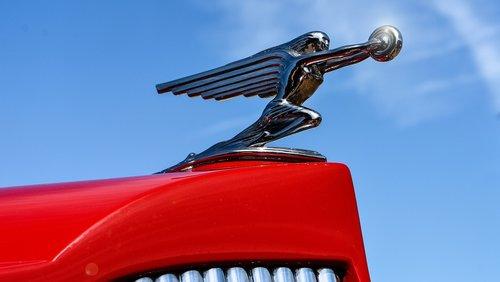 hood emblem  car  vintage