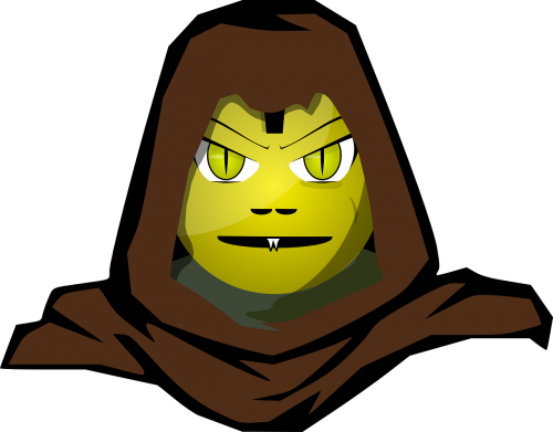 hooded alien monster