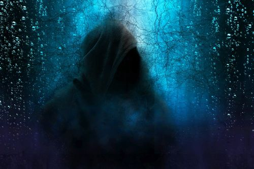 hooded man mystery scary