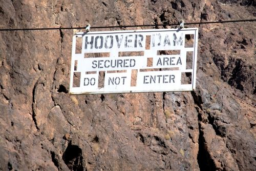 hoover dam secured area do not enter