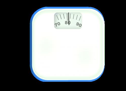 horizontal bathroom scale weight