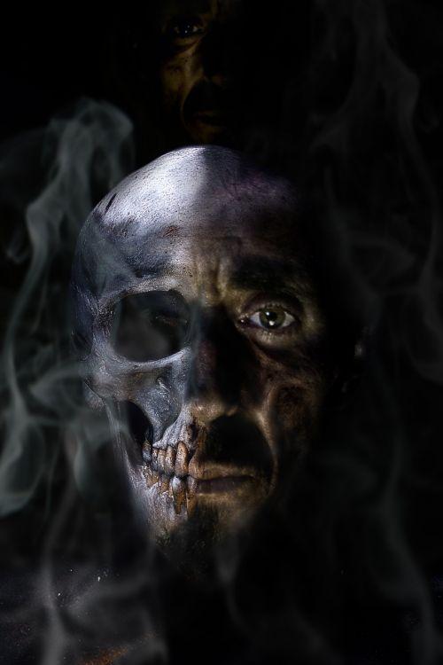horror monster photomontage
