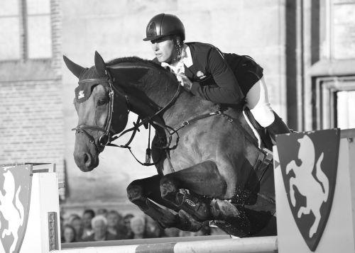 horse man jump