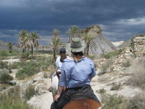 horse ride desert