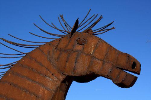 arklys,skulptūra,galva,menas,meno,dizainas,meniškumas,gyvūnas