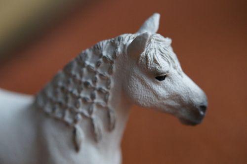 horse white horse head