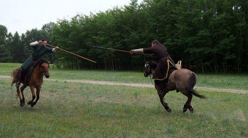 horse rider fight