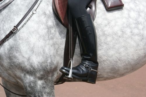 horse boot soldier