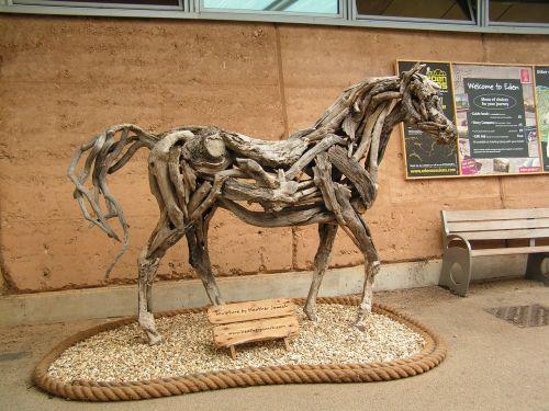 horse drift wood art