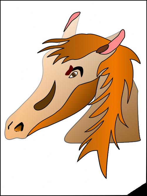 horse head hair