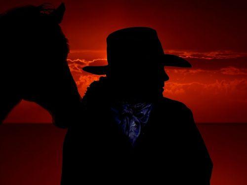 horse cowboy west