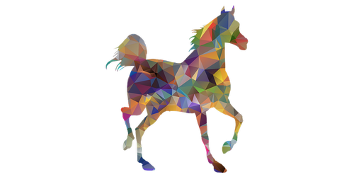 horse  low poly  animal
