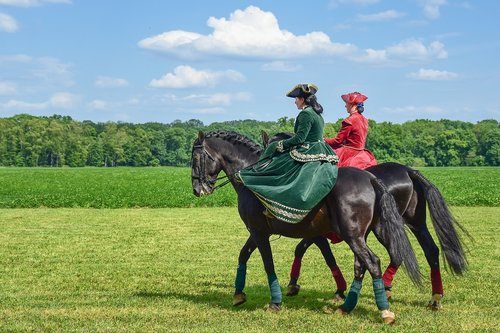 horse  lady  woman