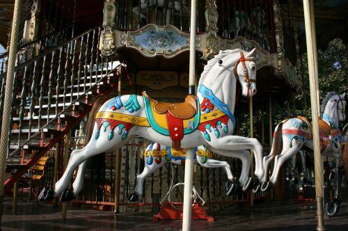 horse carousel childhood
