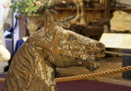 horse wooden carousel