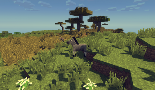 horse minecraft meadow