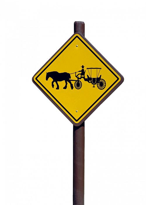 Horse And Carriage Sign