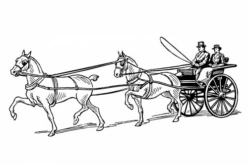 Horse Drawn Buggy Clipart