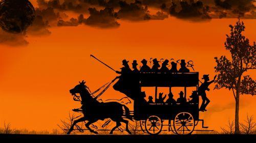 horse drawn carriage coach coachman