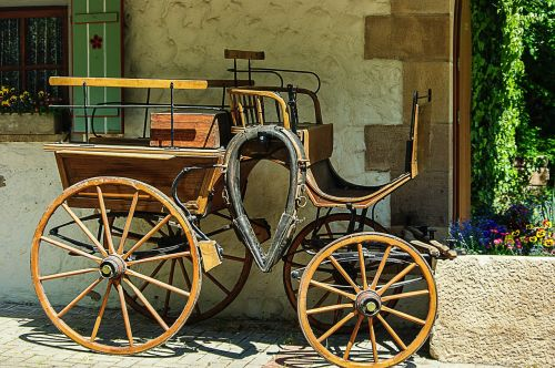 horse drawn carriage wood nostalgia