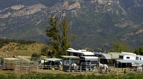 Horse Ranch In Mountains
