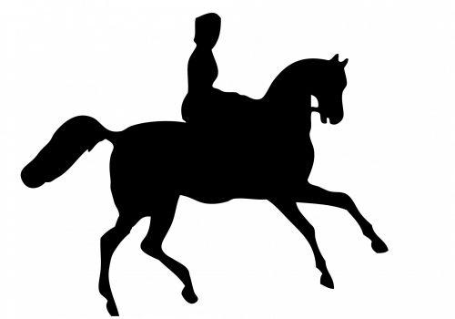 Horse Rider Silhouette Clipart