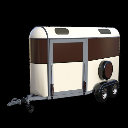 horse trailer  3d  render