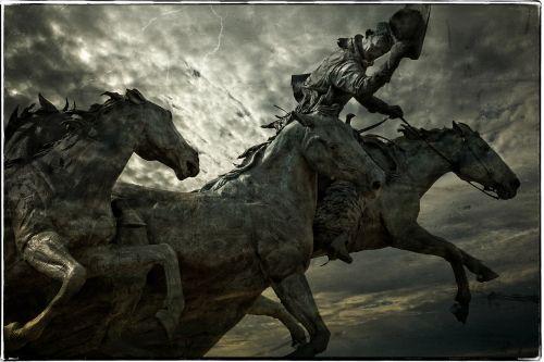 horses rider statue