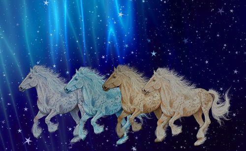 horses a digital creation art