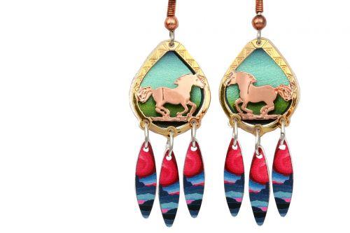 horses jewelry earrings